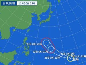台風28号,名前,由来